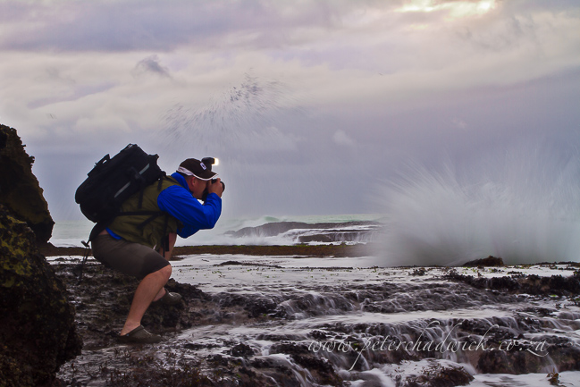Peter Chadwick photographing seascapes