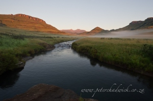 Pholela River at dawn by wildlife and conservation photographer Peter Chadwick