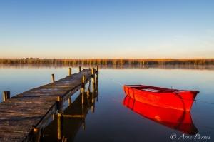 Red Boat And Jetty | Berg River estuary | Veldrift |©Arne Purves