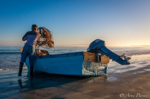A Local Fisher Prepares For A Days Lobster Fishing